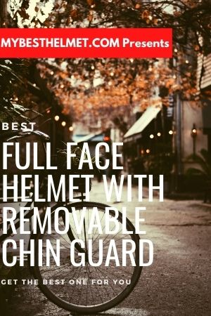 Full face mountain bike helmet with removable chin bar