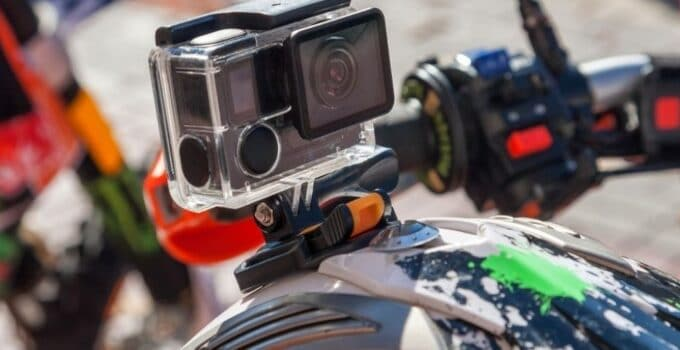 How to mount action camera on motorcycle helmet