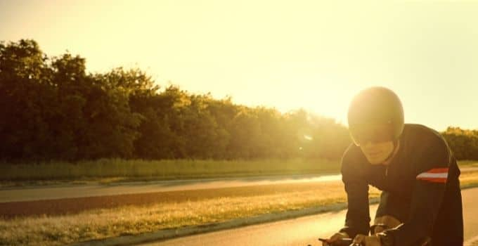 motorcycle and sun