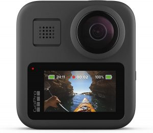 GoPro MAX action camera for motorcycle helmet